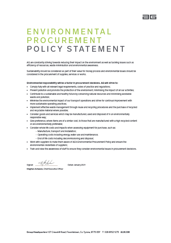 Associated image for the download: Environmental Procurement Policy
