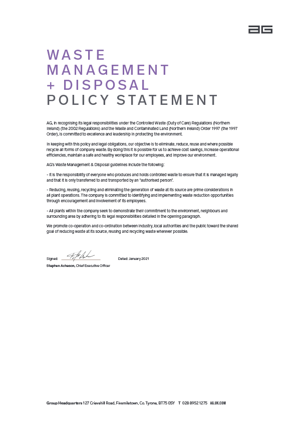 Associated image for the download: Waste Management + Disposal Policy